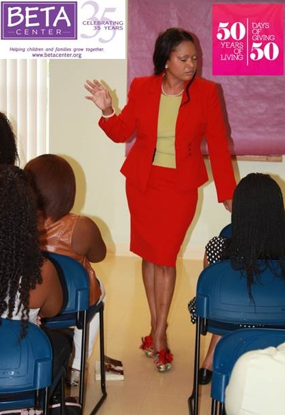 Dr. Pamela McCauley Bush at the BETA CENTER